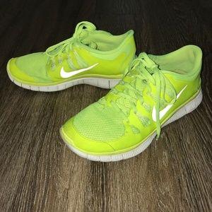 Women's Rare Nike Free 5.0+ Volt, Gray, Size 10